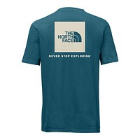 Men's Short Sleeve Red Box Tee in Blue Coral & Vintage White by The North Face