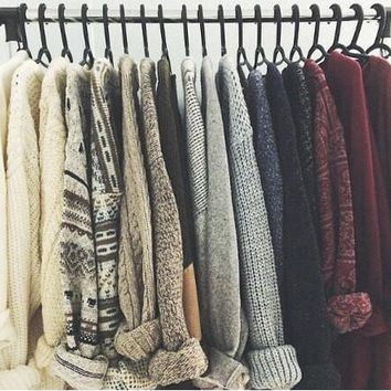 Mystery Sweaters, Over-sized, All Hipster Colors & Grunge Patterns.