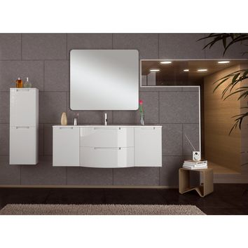 Oasis 57 in. Wall Mounted Bathroom Vanity Cabinet Set Bath Furniture