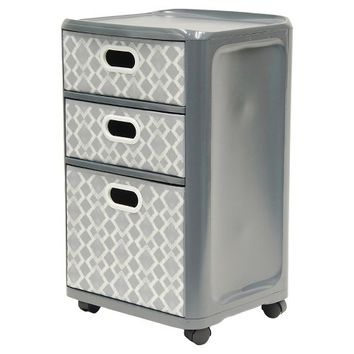 Home Logic 3-Drawer Storage Cart - Grey