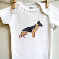 German Shepherd Baby Clothes, Baby Bodysuit