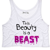 This Beauty Is A Beast Crop Tank Top