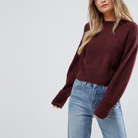 New Look Knitted Crop Sweater at asos.com