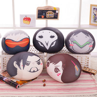 Overwatch Round Head Plush Pillows 30cm