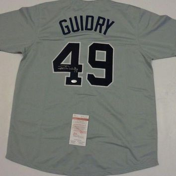 ONETOW Ron Guidry Signed Autographed New York Yankees Baseball Jersey (JSA COA)