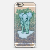 Emerald Elephant in the Lilac Evening on transparent iPhone 6 case by Micklyn Le Feuvre | Casetify