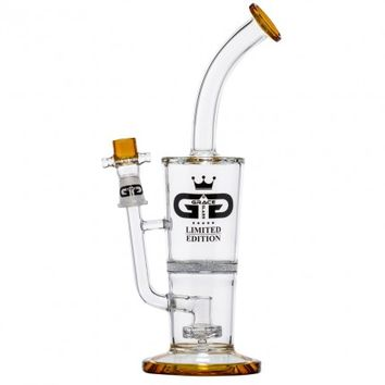 Grace Glass - Limited Edition Bubbler with Fritted Disc Perc & Showerhead Diffuser - Amber