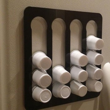 White 16 Pocket K-Cup Holder W/ Magnets Refrigerator Coffee Dispenser
