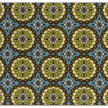 Kau Outdoor Rug, Blue/Multi, Area Rugs