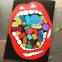 Mouth O' Pills painting