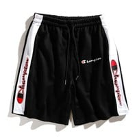 Champion Fashion Women Men Loose Embroidery Sport Shorts I12490-1