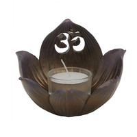 Om Lotus Tealight Holder and Incense Burner