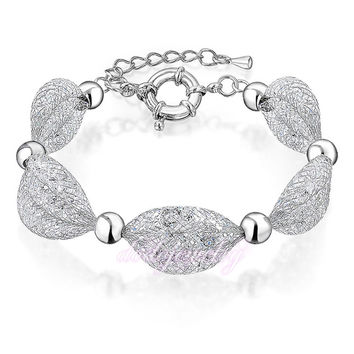 Stardust Clear Crystal Mesh Bracelet Multi Layers 18k Gold GP New Arrival Bangle Jewelry Gift B878
