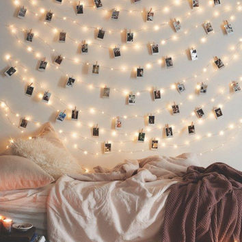 LED Photo Clip Battery Operated String Lights