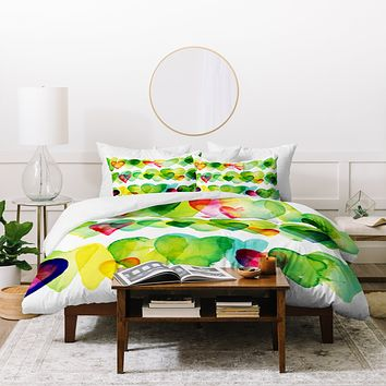 CMYKaren Watercolor Hearts Duvet Cover