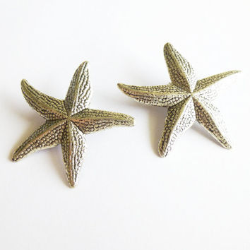 Starfish Hair Accessories Silver Starfish Hair Clips Mermaid Hair Accessories Beach Hair Accessories Nautical Clips Summer Beach Weddings