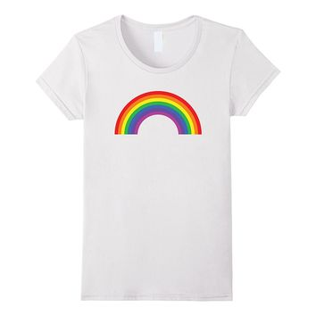 Rainbow Shirt ~ Plain 80s Inspired Graphic Tee