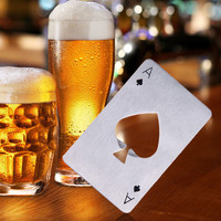 Poker Ace of Card Beer Bottle Opener Stainless Steel Credit Card Bottle Opener
