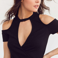 Project Social T Clara Surplice Tee - Urban Outfitters