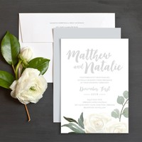 Wintry Floral Wedding Invitations | Elli