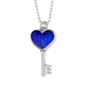 Mood Heart Key Charm Necklace  | Claire's