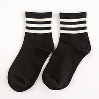 Womens Black Straps Socks Winter Autumn Gift-15