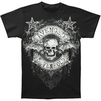 Avenged Sevenfold Men's  AVS Star Flourish Mens Regular T T-shirt Black