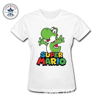 Super Mario party nes switch 2018 Swag  Bros Yoshi Teenage Youth Funny Cotton Funny T Shirt Women AT_80_8