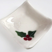 Christmas Decor - Decor - Gift -Holly Dish