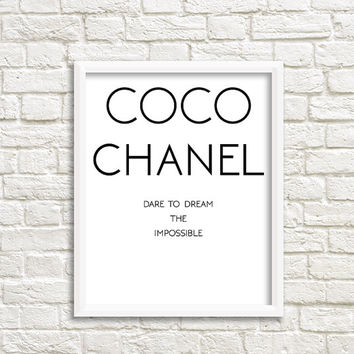coco chanel poster coco chanel print coco chanel art coco chanel party coco channel coco mademoiselle coco chanel bridal shower Coco Prints