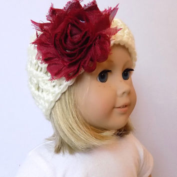 18 Inch Doll Hat Girl Doll Beanie Crochet Doll Clothes