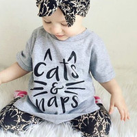 Cats And Naps INFANT Baby Heather Grey Tshirt Cat Whiskers Baby Typographic Tee Humor Tshirt Funny Shirt Cat Ears Cat Tshirt Kat Kitty