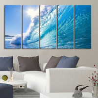 Large Wall Art Canvas Bright Wave and Sunlight, Home Decor, Canvas Prints wall decoration, large wall art, original canvas printing