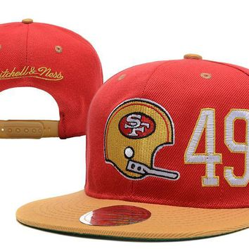auguau San Francisco 49ers Snapback NFL Football Caps M&N