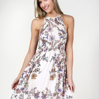 Altar'd State Playful Blossoms Dress - Fit and Flare - Dresses - Apparel