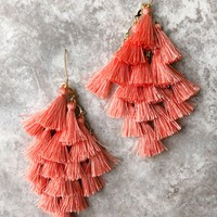 Free Your Mind Earrings: Coral