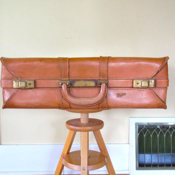 leather suitcase vintage holiday gifts christmas luggage large suitcase old mid century suitcases 1950s decor stacking wedding photo prop