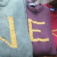 The Weasley Sweater - Custom Harry Potter Sweaters made just for you - Your initial on a sweater - Monogram