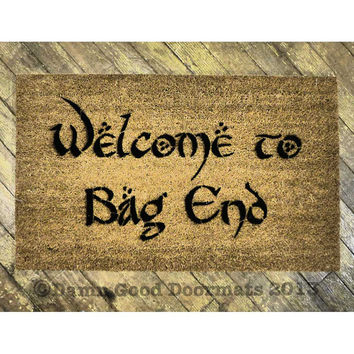 LOTR Bilbo Welcome to Bag End doormat geek stuff