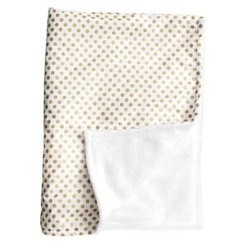 Baby Blanket | Metallic Gold Dots