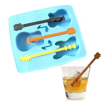 Summer Sale New Ice Guitar Mold Tray Makes Ice Guitars Ice