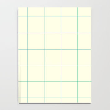 Minimalist Grid Pattern with Space and Lines Notebook by spaceandlines