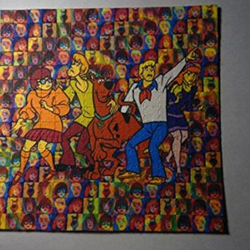 Psychedelic Blotter Art Print perforated sheet 15x15 - Scooby Doo Design
