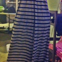 Striped Navy Maxi Dress