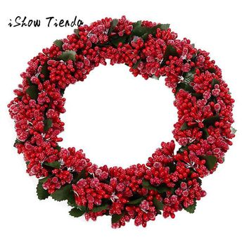 Christmas Decorations For Home DIY Christmas Wreath Tree Window Door Holiday Decoration Hanging Ornament Bowknot Pendant