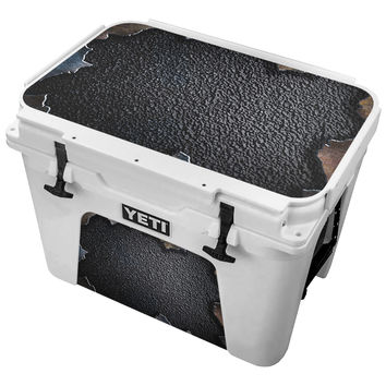 Ripped Black Metal Skin for the Yeti Tundra Cooler