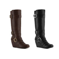 Rampage Katana Women's Wedge Boot - Medium Width - Available In 2 Stylish Colors