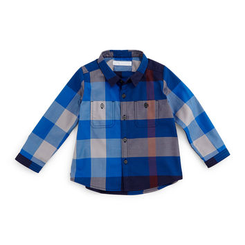 Camber Twill Check Shirt, Size 3M-3Y, Size: