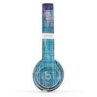 The Sketched Blue Word Surface Skin Set for the Beats by Dre Solo 2 Wireless Headphones