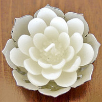 White Lotus Candles, set of 4